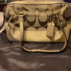 Authentic Coach signature handbag